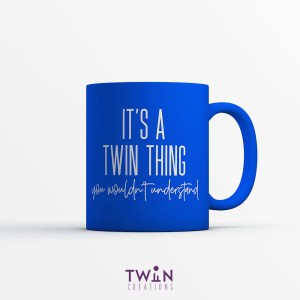 It's A Twin Thing Mug Royal