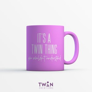 It's A Twin Thing Mug Pink
