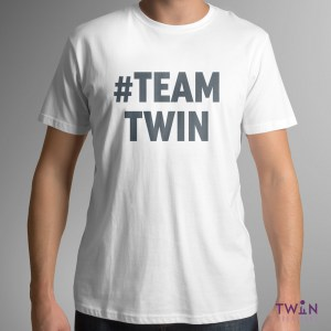 #TEAMTWIN Bold Mens T-Shirt White