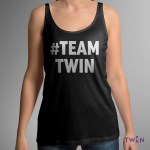 #TEAMTWIN Bold Ladies Vest Black