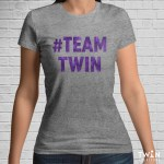 #TEAMTWIN Bold T-Shirt Athletic with Purple