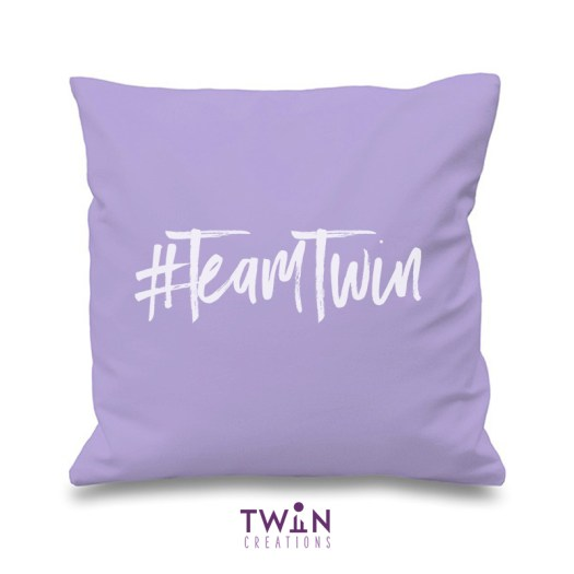#TeamTwin Cushion Lilac