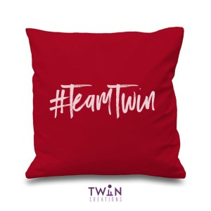#TeamTwin Cushion Maroon