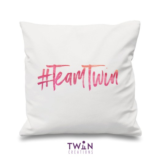 #TeamTwin Cushion White