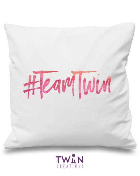 team twin cushion white