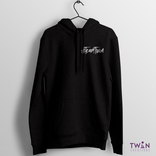 Team Twin Hoodie Small Design Black