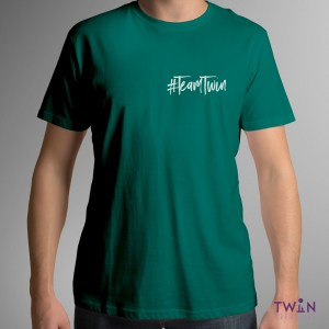 Team Twin Corner Mens T-Shirt Green