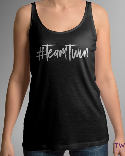 team twin tank black