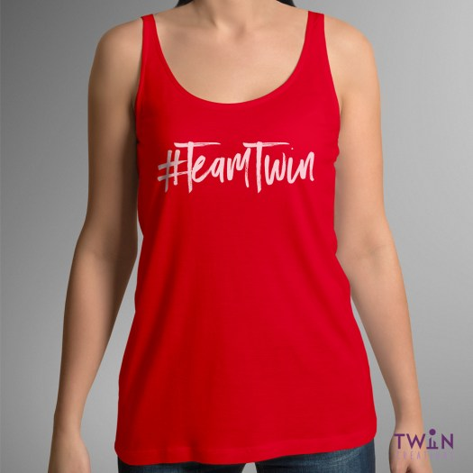 Team Twin Ladies Vest Red
