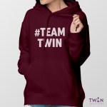 #TEAMTWIN Bold Hoodie Ladies Feature