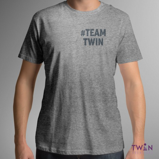teamtwin bold corner mens athletic grey