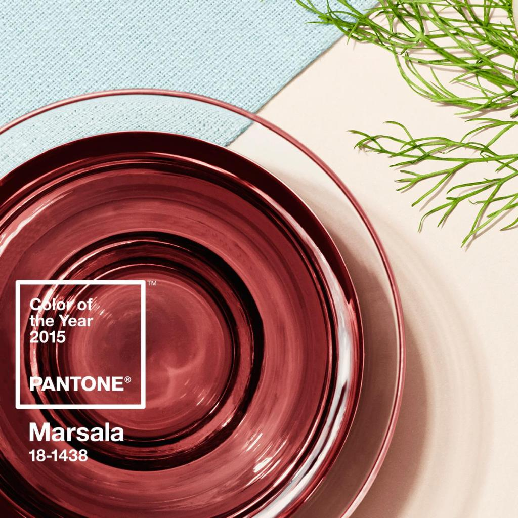 Color of the Year 2015, Marsala. Picture courtesy of Pantone.
