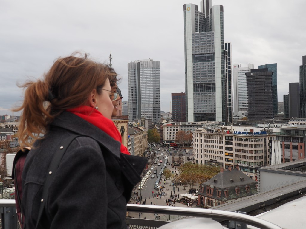 Looking over Frankfurt's skyscrapers - with me as tourguide.