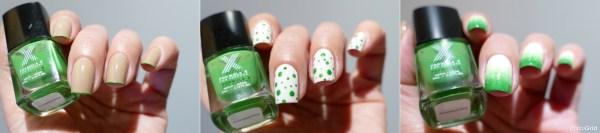 Greenery nail art
