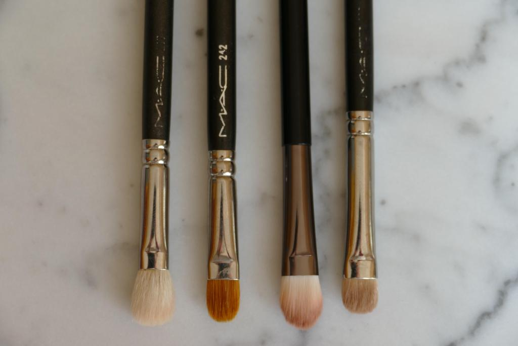 synthetic Hakuhodo eyeshadow brushes