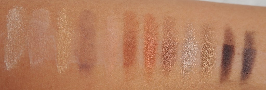 NARS Narsissist Loaded Eyeshadow Palette Swatch