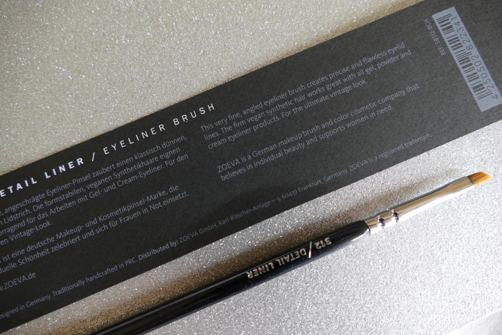 Zoeva eyeliner brush review