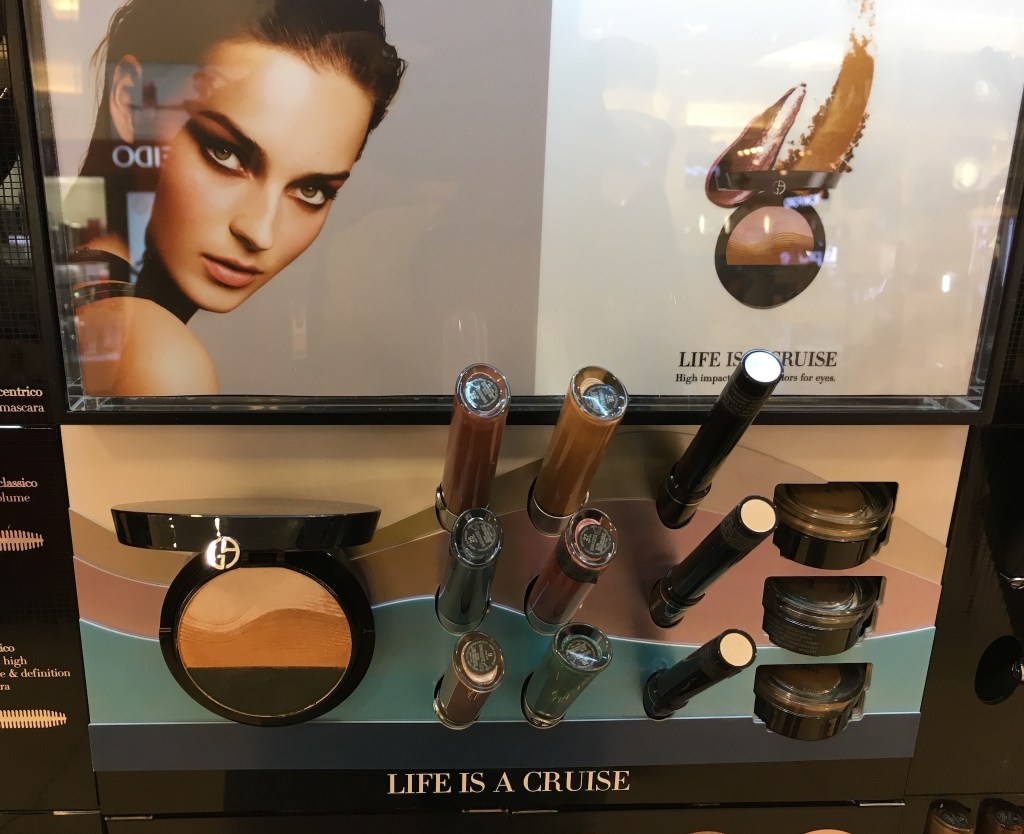 Giorgio Armani Life is a Cruise Display
