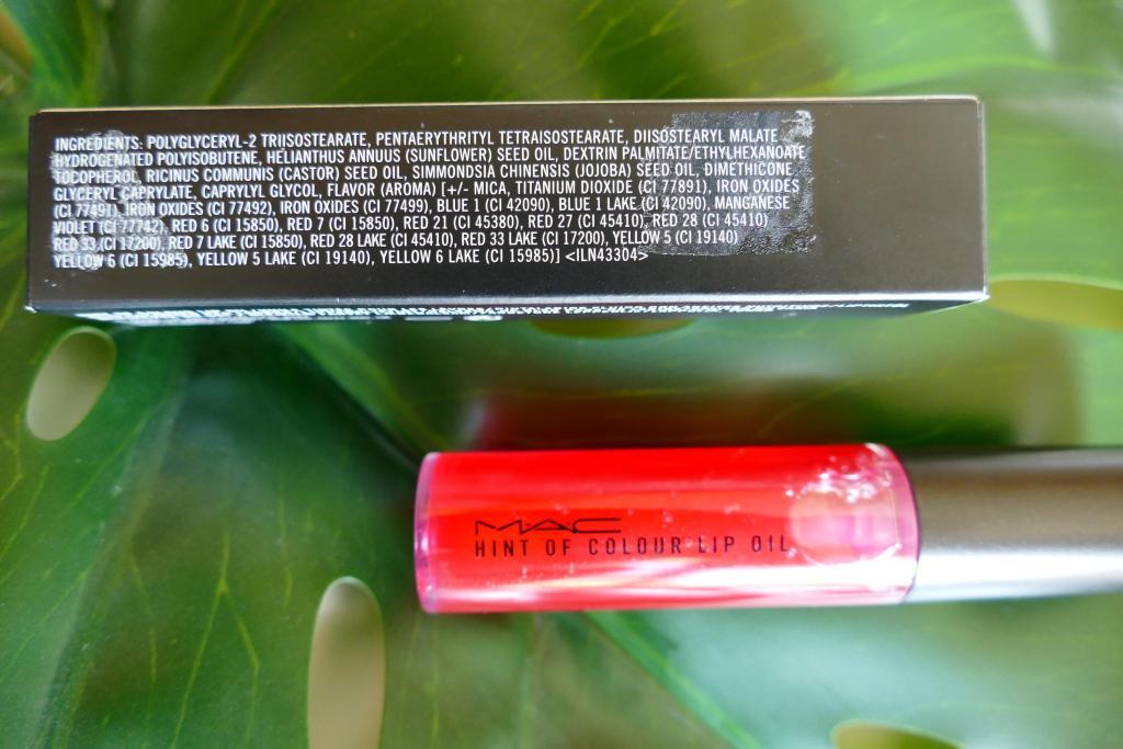 MAC Hint of Colour Lip Oil inci list