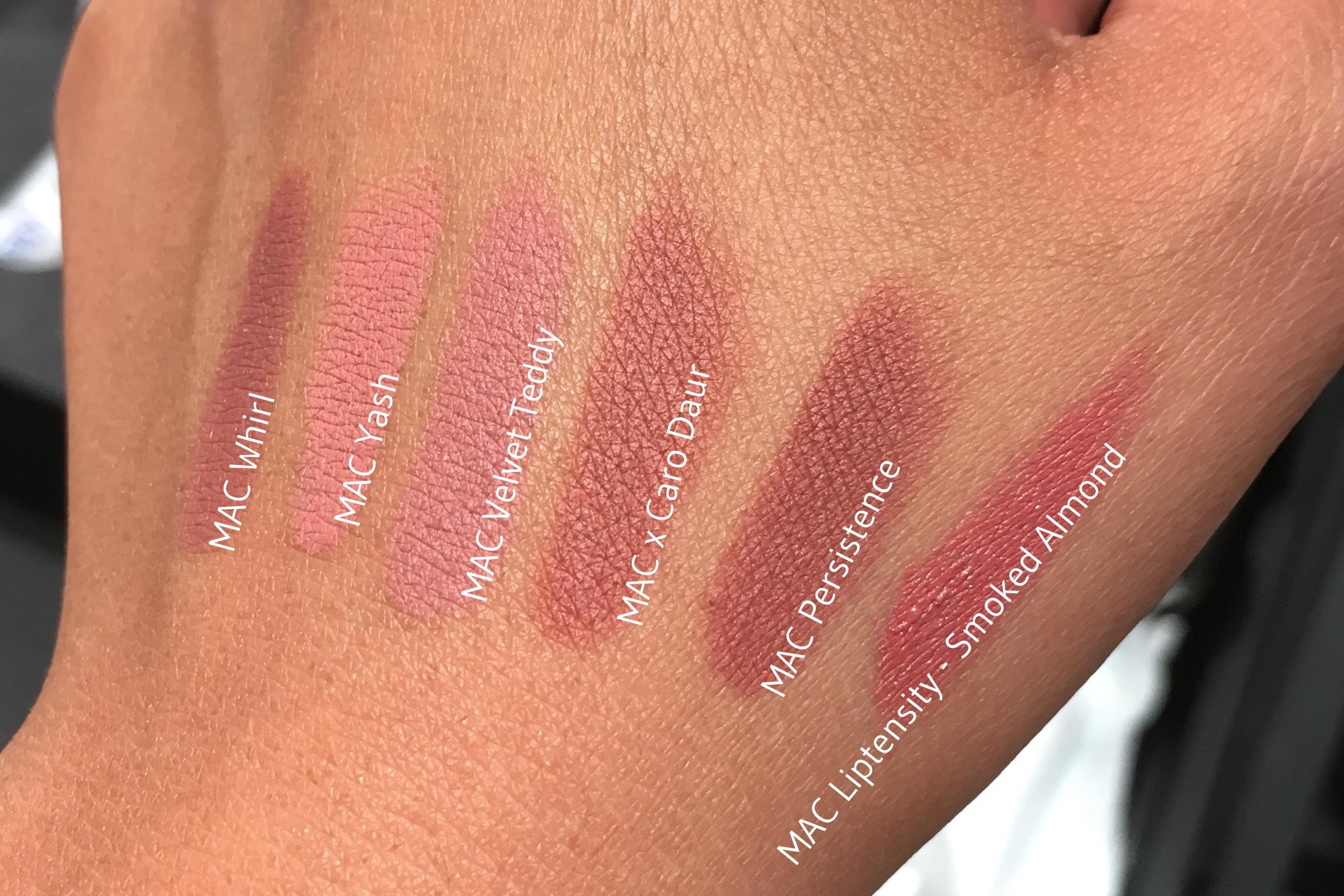 Beroemd MAC x Caro Daur comparison with other MAC lipsticks - twindly  OH96