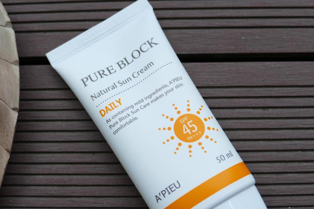 A'Pieu Pure Block Natural Sunscreen review