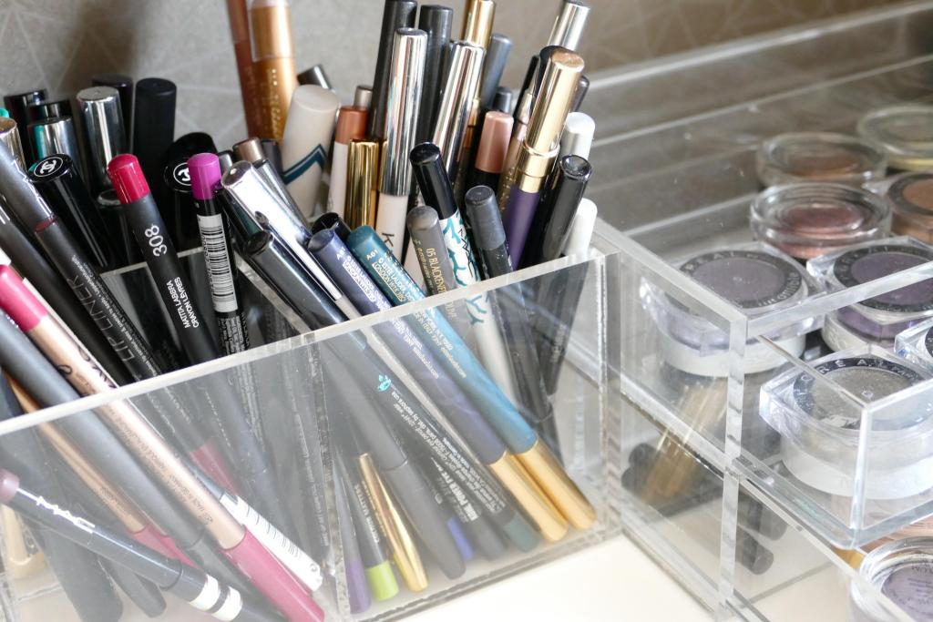 Muji makeup storage solutions
