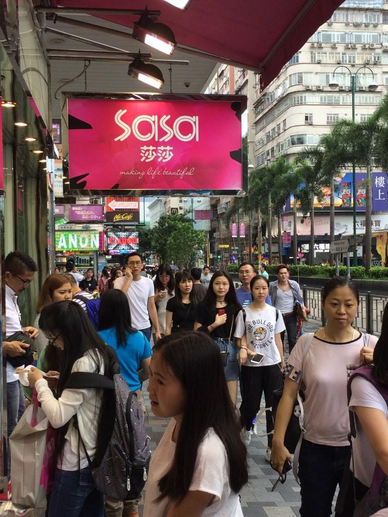 Hongkong beauty shopping