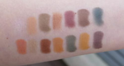ABH Subculture swatches on light skin
