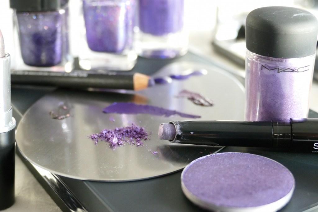 Ultra Violet eyeshadows and eyeliners