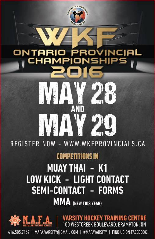 Twin Dragon East Kickboxing – WKF Provincials Canada