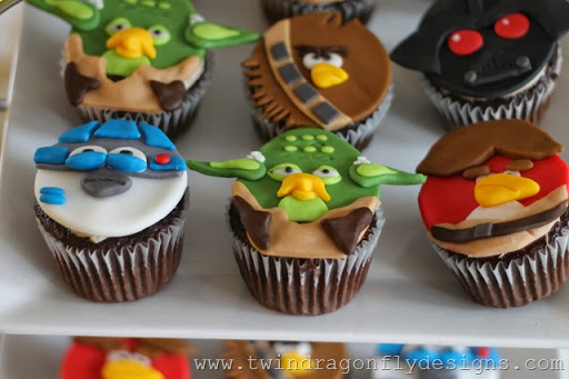 Toppers Cupcake Bird Star Angry Wars
