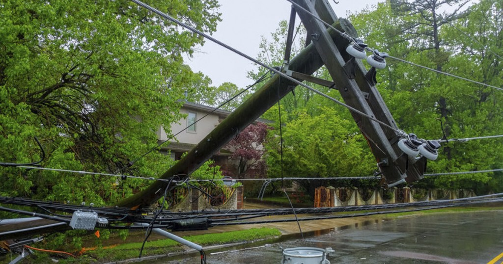 Common electrical hazards at home - Fallen powerlines