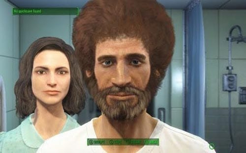 Fallout 4, character creation, Bob Ross