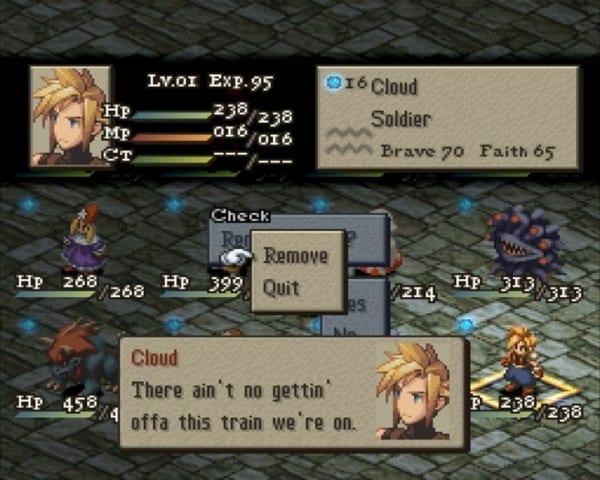 Cloud, Final Fantasy Tactics