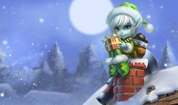 Earnest Elf Tristana league of legends slowdown showdown winter skin splash