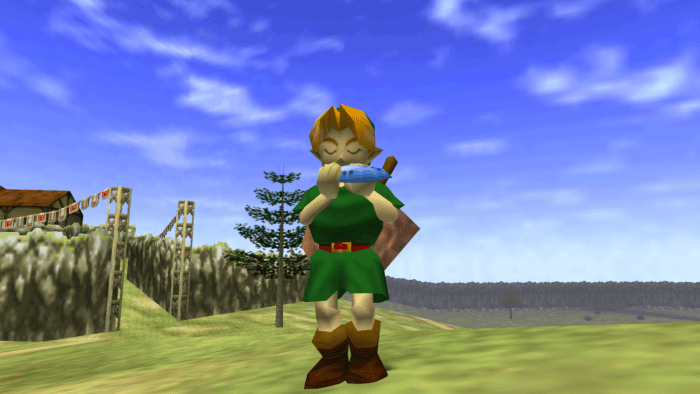 legend of zelda ocarina of time, games where you play as a kid