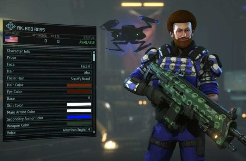 XCOM 2, character creation, Bob Ross