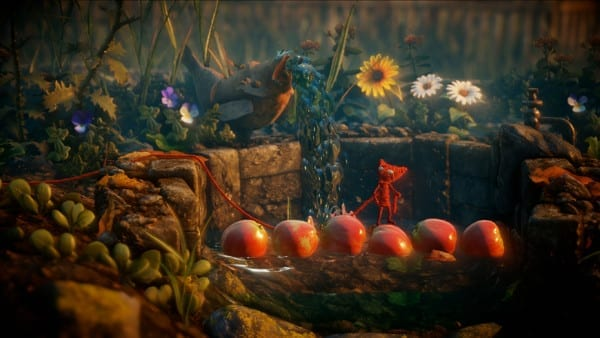 Unravel yarny apple water