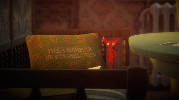 unravel yarny pillow translation meaning