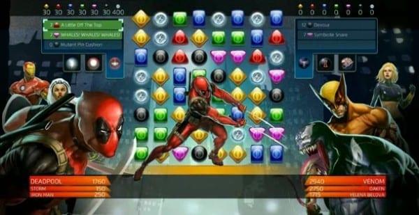 deadpool, marvel, games, puzzle quest
