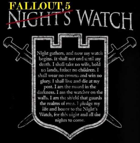 is fallout 5 out yet watch night's watch