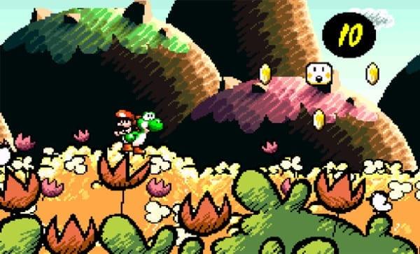 Yoshi's Island, Super Mario World 2, prettiest, game, graphics, art style