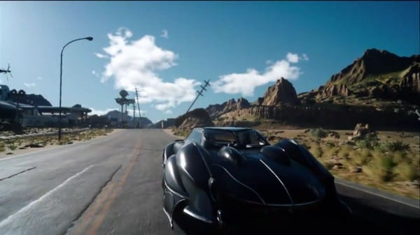 Final Fantasy XV, FFXV, car, jet