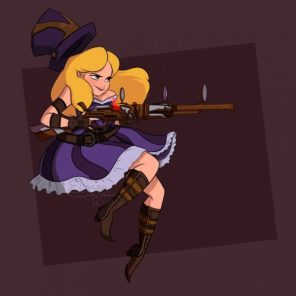 Alice as Caitlyn Disney princesses as League of legends champions