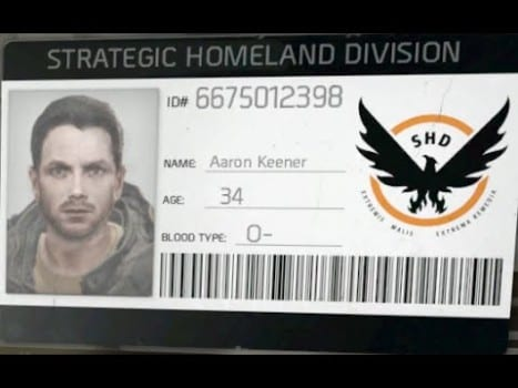 The Division, Aaron Keener, story, unexplained, unanswered questions