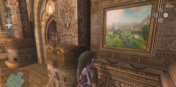 legend of zelda, twilight princess, screenshot, easter egg, artwork
