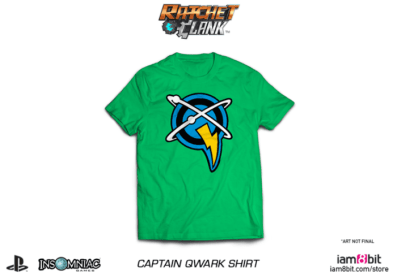ratchet and clank, merchandise, t-shirt, captain qwark, movie, game