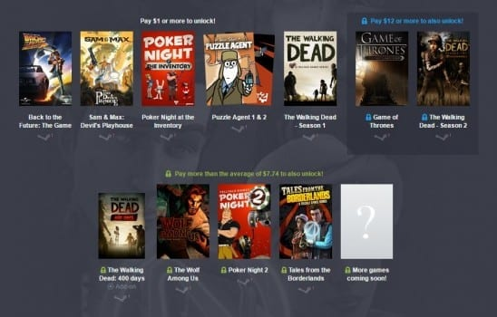 Telltale Games, Humble Bundle