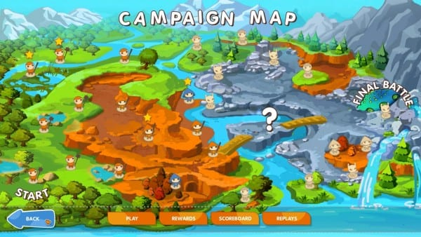 Mushroom Wars Campaign Map