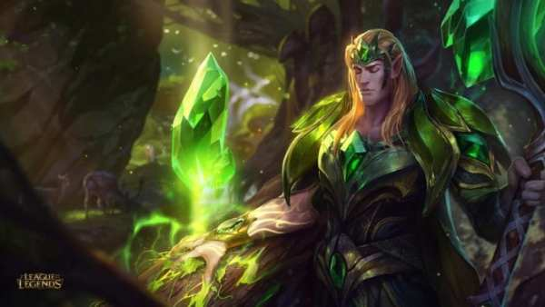 League of Legends Emerald Taric new skin splash art updated rework